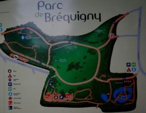 plan du parc de bréquigny