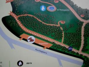 plan du parc de Bréquigny à Rennes espace chien