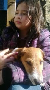 Chien dans les bras d'un enfant AU POIL DANS MES PATTES! éducateur canin comportementaliste 35